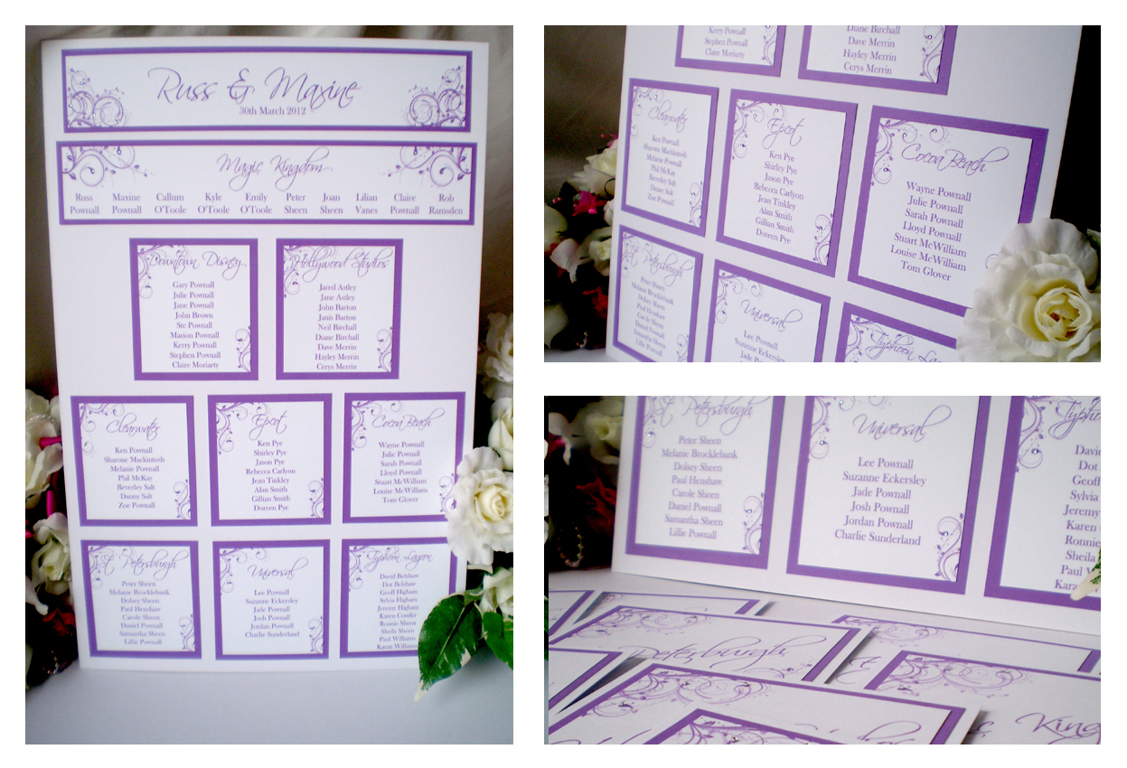 Yellow blossom designs table plans a3 a2 with for Table plan board
