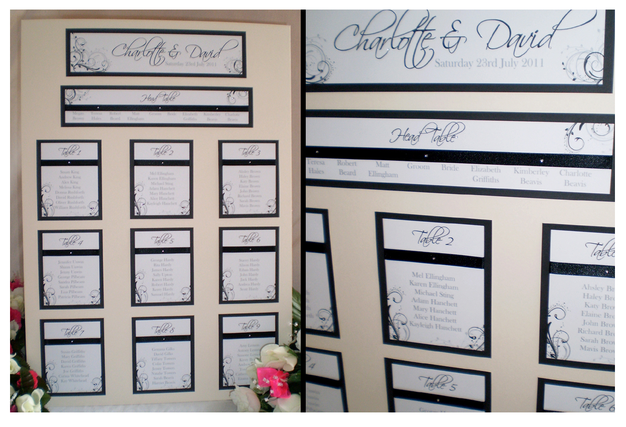 table plan mount board